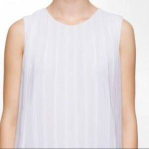 Joie white cream ruffle tank top size small